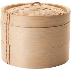Ατμομάγειρας Bamboo Με Δύο Επίπεδα 20cm Ibili