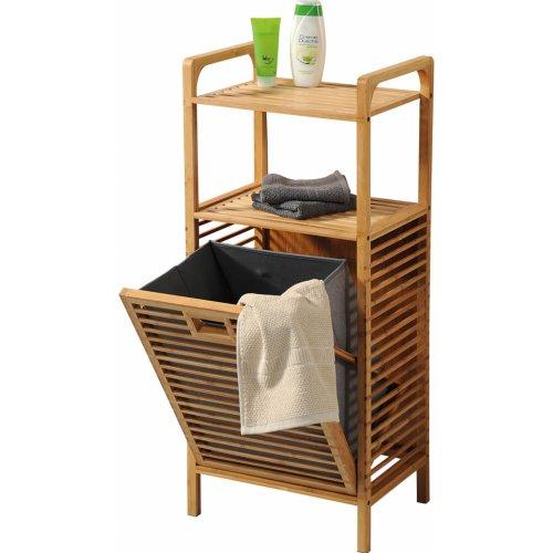 Ραφιέρα - Έπιπλο Μπάνιου Bamboo Με Καλάθι Απλύτων Kesper