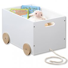 Κουτί Αποθήκευσης Παιχνιδιών Αυτοκινητάκι  Συρρόμενο Λευκό Kesper
