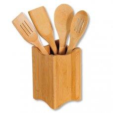 Σετ Κουτάλες Κουζίνας Από Bamboo Με Βάση Kesper