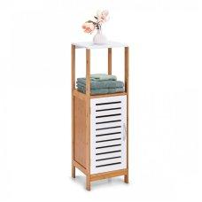Έπιπλο Μπάνιου Με Ντουλάπι και Δύο Ράφια Bamboo - Λευκό ZPresent
