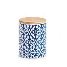 """Κεραμικό Δοχείο Αποθήκευσης 900ml """"Morocco"""" Λευκό - Μπλε ZPresent"""