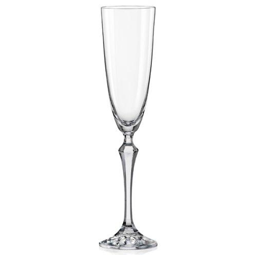 Κρυστάλλινο Ποτήρι Σαμπάνιας Bohemia Elisabeth (Σετ 6 Τεμαχίων)