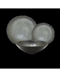Σετ Κεραμικά Πιάτα Marva Grey 18τεμαχίων