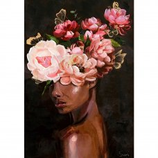BLOOMING WOMAN ΠΙΝΑΚΑΣ 80x3.5x120Ycm OIL PAINTING