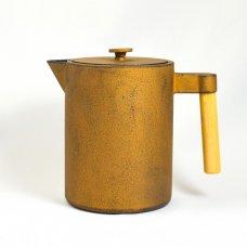 Τσαγιέρα - Κανάτα Μαντεμένια ja Kohi 1,2L Με Ξύλινο Χεράκι Χάλκινη - Χρυσή