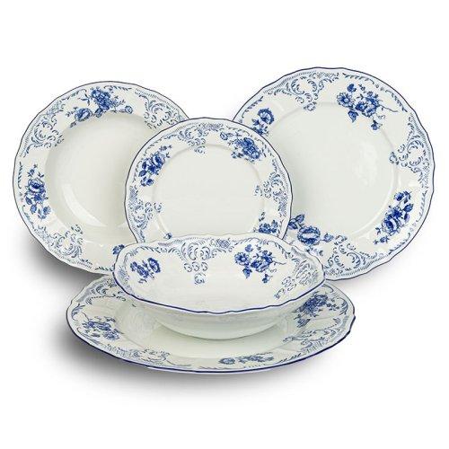 Σερβίτσιο Φαγητού  Bernadotte Blue Flowers 20 Τεμαχίων
