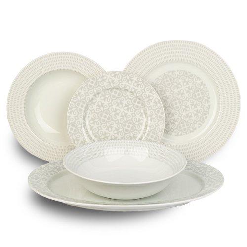 Σετ Πιάτων 20 τεμαχίων AB Porcelain Grey Lights