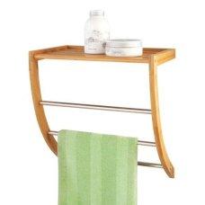 Επιτοίχια Βάση Για Πετσέτες Με Ράφι Μεταλλική - Bamboo Zpresent