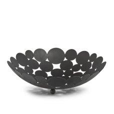 Φρουτιέρα Μεταλλική Μαύρη Με Σχέδιο Κύκλους Zpresent