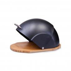 Ψωμιέρα Turtle Μπαμπού - Πλαστική Με Μαύρο Καπάκι Z Present